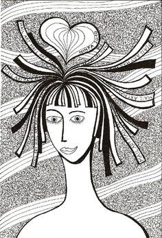MAIL ART 2010 cuore sulla testa