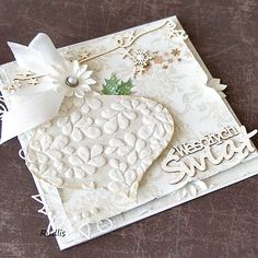 christmas card + embossing paste
