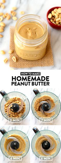 Love peanut butter? ME TOO! Here's a step by step tutorial on how to make homemade peanut butter plus 3 ways to flavor it!