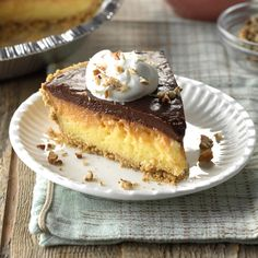 Chocolate Cream Cheese Pie Recipe | Taste of Home
