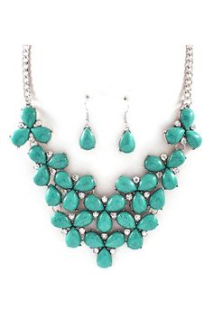 Michaela Necklace Set in Turquoise on Emma Stine Limited