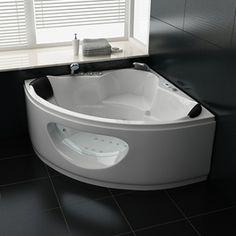 Whirlpool Milano 138x138cm Spa Jacuzzi, Corner Bathtub, Indoor, Bathroom, Relaxation, Guide, Design, El Dorado, Jacuzzi Tub