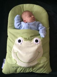 """Baby Dante loves his frog nap mat! How cute does he look, sound asleep in his nap mat?! Mum Amber-Cherie said """"the nap mat is a god send! He loves it."""" Nonna is delighted! :-)"""