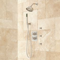 Hinson Shower System with Hand Shower & 3 Body Sprays -Brushed Nickel