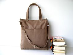Simply Tote Bag in Light Brown $38.00. New teacher bag?