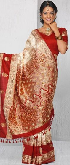 Brocade silk wedding saree. Oh, how I wish I could pull off wearing one of these!