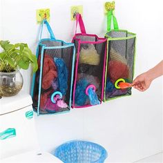 Us 296 Breathable Mesh Hanging Kitchen Garbage Bag Storage Packing Pouch Bags In Storage Bags From Home Amp Garden On Aliexpresscom Alibaba Group Carrier Bag Storage, Kitchen Garbage Bags, Garbage Storage, Plastic Bag Storage, Plastic Carrier Bags, Childrens Toy Storage, Grocery Bag Holder, Grocery Bag Storage, Diy Home Decor