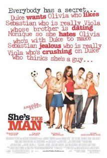 She's the Man - A mindless comedy based on the play 'Twelfth Night,' starring Amanda Bynes, who is for sure one of my favorite comedic actresses :) Super funny, hot male lead, funnily-happy ending... All in all an awesome movie that if you haven't seen, you haven't lived (I say that loosely) #comedy