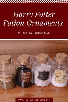 Housewife Eclectic: Harry Potter Potion Ornaments with Free Printables