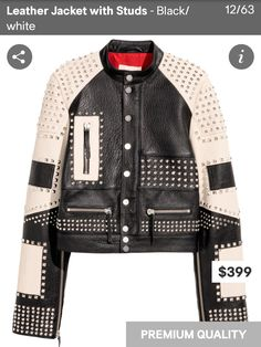 H&M premium quality leather jacket. Must have!
