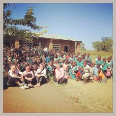 visiting the local school in malawi.
