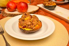 A Healthy Jalapeno: Roasted Acorn Squash with Sausage and Apple Stuffing Apple Stuffing, European Cuisine, Acorn Squash, Avocado Egg, Sausage, Roast, Eggs, Healthy, Breakfast