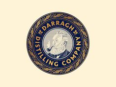 Darragh Distilling Co. by Peter Voth on Dribbble Irish Whiskey, Scotch Whiskey, Bourbon Drinks, Old Trains, Home Brewing Beer, Travel Illustration, Peterborough, Silver Spring, San Luis Obispo