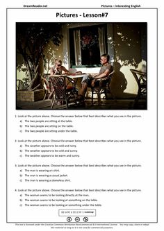 Why not try this free printable PDF of Easy English: Lesson 7? Great ESL reading practice for beginners! http://dreamreader.net/lesson/pictures-lesson-7/ #easyenglish #education #esl #efl #learnenglish #tesol #elt #readingpractice