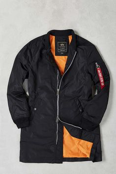Alpha Industries X UO Long Bomber Jacket - Urban Outfitters