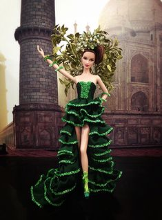 Miss Mexico 2014 Costume Collection, Barbie Collection, Strawberry Costume, Miss Pageant, Barbie Miss, Barbie Costume, Beautiful Barbie Dolls, Barbie Princess, Pageant Gowns