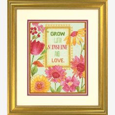 Painted Daisy Verse Counted Cross-Stitch Kit - Herrschners #sunshine #love