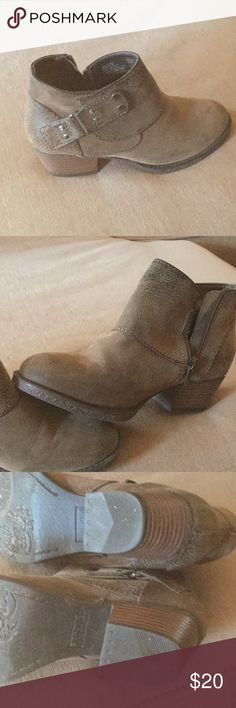 Rugged bootie Bootie rugged style with buckle and silver accents. Size 6 brand is Sonoma wore once Shoes Ankle Boots & Booties