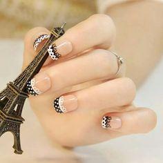 Black & white Lace Nail Design, Lace Nail Art, Lace Nails, White Nail Designs, Simple Nail Art Designs, Nails Design, Lace Art, Design Design, Gorgeous Nails
