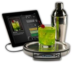 Pure Imagination Perfect Drink makes happy hour happier. Download the free app (iOS and Android) and choose from tons of drink recipes. Connect the smart scale to your phone or tablet, place glass (or included shaker) on scale and pour. A virtual glass fills up on your screen so you know how much to pour; $50, brookstone.com, bedbathandbeyond.com