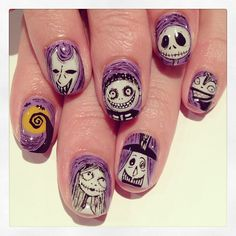 The Nightmare Before Christmas art nails