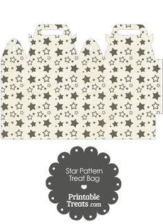 Vintage Black Star Pattern Treat Bag from PrintableTreats.com