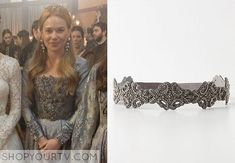 Greer (Celina Sinden) wore this silver beaded belt in multiple episodes of Reign.