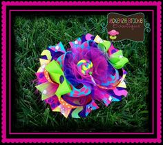 OTT Lollipop Hair Bow by mckenziebrookebow on Etsy, $16.00