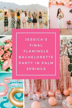 Bachelorette parties 793266921849091207 - Jessica's Final Flamingle Bachelorette Party in Palm Springs — Got Your Bach Source by gotyourbach Bachelorette Party Checklist, Bachelorette Party Planning, Beach Bachelorette, Bachlorette Party, Palm Springs Pool Party, Cali, Family Travel, Celebrations, Bridal Shower