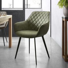 Kave Home Dining room chair & # Amira & # with armrest and diamond pattern Eclectic Living Room, Rugs In Living Room, Living Room Decor, Dining Room Design, Dining Room Chairs, Outdoor Lounge Chair Cushions, Modern Chairs, Interior Design, Decoration