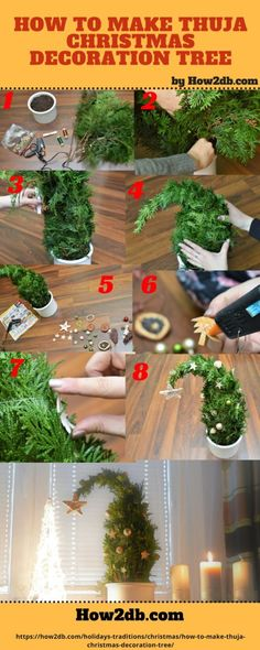 How to make Thuja Christmas Decoration Tree. Looking for Christmas ideas? Well, you've come to the right place. Set a festive holiday mood throughout your house with our simple thuja Christmas decoration tree. Christmas Countdown, Christmas Art, Winter Christmas, Christmas Wreaths, Christmas Ideas, Christmas Planters, Christmas Centerpieces, Christmas Decorations, Holiday Mood