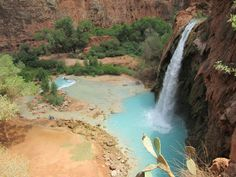 1600m:tracy-ch:  Hiked ten miles into the Grand Canyon for this  I've been here and it is my favorite place on the planet. Havasupai is gorgeous and I must go back.