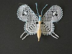 Cute idea - would love to find the pattern. Bobbin Lace