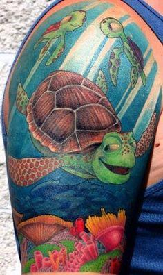 Finding Nemo Tattoo. Love this. Yeahhhhh dudddddddde