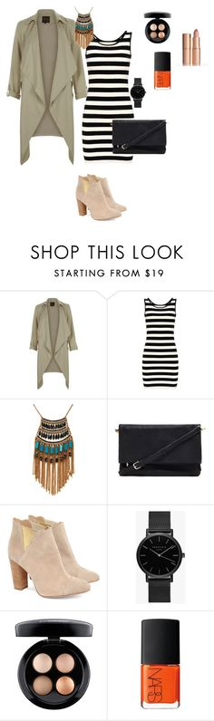 """striped dress"" by ulusia-1 ❤ liked on Polyvore featuring New Look, Leslie Danzis, Forever 21, Cleo B, MAC Cosmetics, NARS Cosmetics and Charlotte Tilbury"