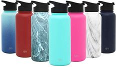 Simple Modern 14 Ounce Summit Water Bottle - Travel Mug Stainless Steel Tumbler Flask Lids - Wide Mouth Double Wall Vacuum Insulated Pink Leakproof -Blush Reusable Water Bottles, Plastic Bottles, Eco Friendly Water Bottles, Filter Bottle, Stainless Water Bottle, Thing 1, Metal Straws, Stainless Steel Metal, Shampoo Bar