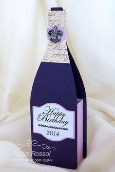 fles wijn cadeau, leuk in deze verpakking More