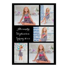 Shop Custom 5 Photo Personalized Collage Print created by cutencomfy. Personalize it with photos & text or purchase as is! Family Photo Collages, Family Photos, Collage Photo, Black Backgrounds, Colorful Backgrounds, Instagram Collage, Multi Photo, Online Gift Shop, Postcard Size