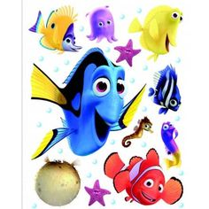 Finding Dory and Nemo Giant Stickers - Great Kidsbedrooms Ltd