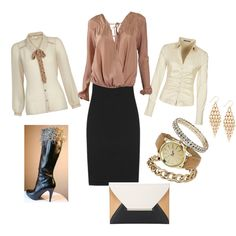 """Pencil skirt Boot Cuff Outfit"" by offthecuffaccents-322 on Polyvore"