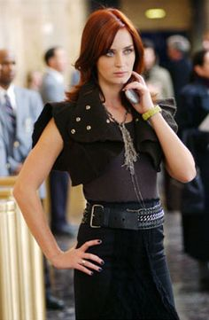 Emily Blunt as Emily in The Devil Wears Prada.