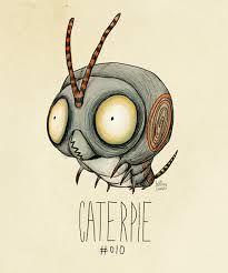 Naam werk: Caterpie Naam kunstenaar: Tim Burton Afmetingen: Onbekend Materiaal: Papier en kleurpotlood