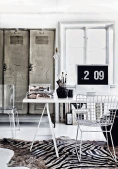 office inspiration,home office design,home office Working spaces Workspace Inspiration, Home Decor Inspiration, Inspiration Boards, Style At Home, Table Office, Office Workspace, Office Chairs, Home Office Design, House Design