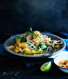 Australian Gourmet Traveller fast recipe for banana-blossom salad with…