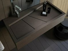 Sink for modern bathrooms - these 30 designs are real eye-catchers! Bathroom Sink Design, Small Bathroom Vanities, Bathroom Design Luxury, Bathroom Toilets, Bathroom Faucets, Sinks, Concrete Furniture, Bathroom Furniture, Bathroom Interior