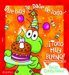 feliz cumpleanos imagenes | imagenes de feliz cumpleaños con frases (11) Spanish Birthday Wishes, Happy Birthday Wishes, Birthday Quotes, Birthday Cards, Birthday Messages, Hippie Birthday, Cute Frogs, Happy Birthday Images, Happy B Day