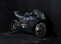 Black Polygon: Ducati Desmosedici RR By Death Spray Customs.