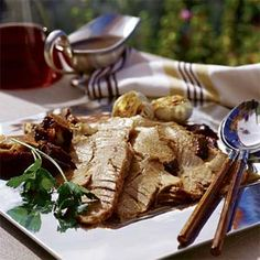 For a special supper, slow-roast a pork shoulder. Start the roast in the morning, and it will be ready for dinner. The skin crisps to crunchy Slow Roasted Pork Shoulder, Pork Shoulder Recipes, Shoulder Roast, Oven Roast, Pork Roast, Pork Chops, Pork Recipes, Cooking Recipes