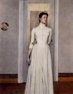 Ritratto di Marguerite, Fernand Khnopff, 1887. Musei reali delle Belle Arti, Bruxelles, olio su pannello