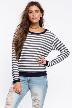 Becca Striped Sweatshirt